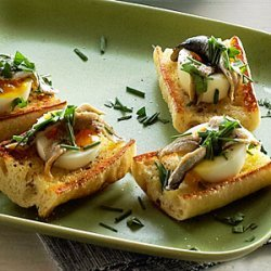 Egg and Anchovy Crostini recipe