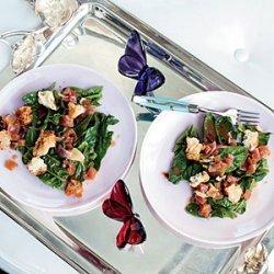 Spinach Salad with Garlic-Cider Vinaigrette recipe