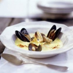 Saffron Mussel Soup recipe