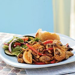 Chicken, Peppers, Onions, and Mushrooms with Marsala Wine recipe