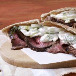 Grilled Steak with Tzatziki Salad recipe