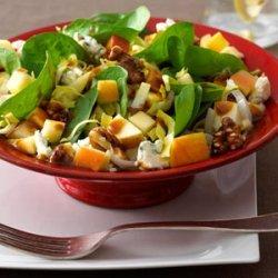 Chopped Apple Salad with Pomegranate Vinaigrette recipe