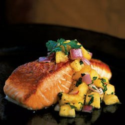 Pan-Grilled Salmon with Pineapple Salsa recipe