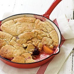 Grilled Summer Fruit Cobbler recipe