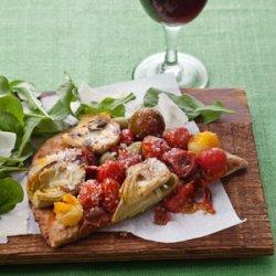 Roasted Tomato and Artichoke Flatbread Pizza recipe