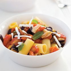 Rigatoni with Sauteed Eggplant and Tomatoes recipe