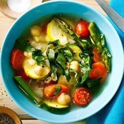 Quick Chickpea and Summer Vegetable Stew recipe