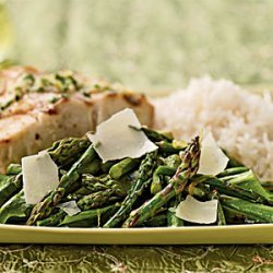 Grilled Asparagus and Arugula Salad with Lemon-Truffle Dressing recipe