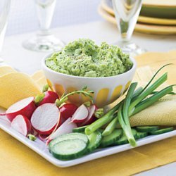 Roasted Garlic-Edamame Spread recipe