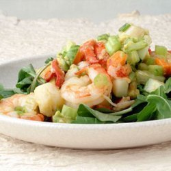Seafood Avocado Salad with Ginger recipe