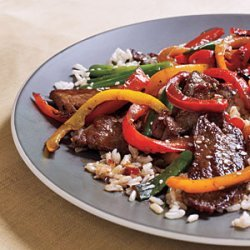 Spicy Beef and Bell Pepper Stir-Fry recipe