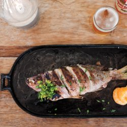 Grilled Fish with Tangerine and Marjoram recipe