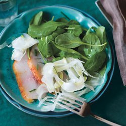 Smoked Fish with Fennel and Arugula Salad recipe