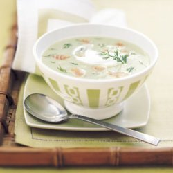 Chilled Cucumber Soup with Smoked Salmon and Dill recipe