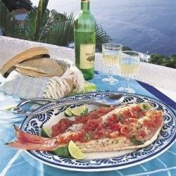 Grilled Whole Fish with Roasted Tomato-Chile Sauce recipe