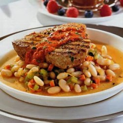 Tuna with White Beans and Sun-Dried Tomato Sauce recipe