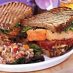 Salmon Club Sandwich recipe