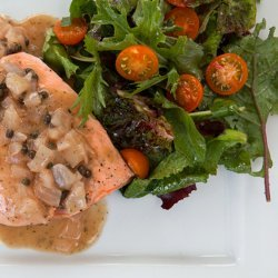 Poached Salmon with Mustard Sauce recipe