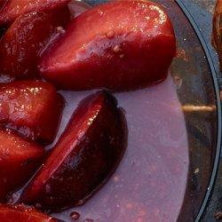 Peach Melba with Burnt Caramel Sauce recipe