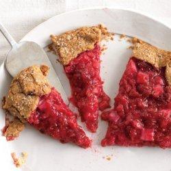 Rhubarb and Raspberry Crostata recipe