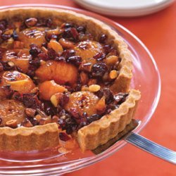 Honey-Caramel Tart with Apricots and Almonds recipe