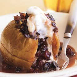 Baked Apples with Mincemeat, Cherries, and Walnuts recipe
