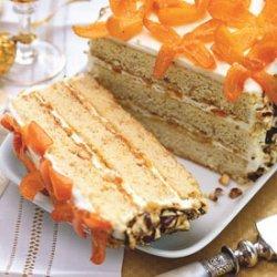 Hazelnut Crunch Cake with Honeyed Kumquats recipe