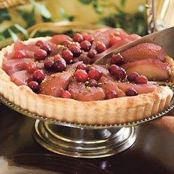 Spiced Cranberry-Pear Tart recipe