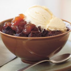 Gingerbread Puddings with Candied Apples recipe