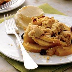 Apple-Raisin Crumble with Orange Ice Cream recipe