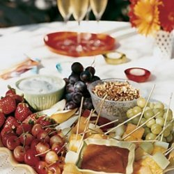 Summer Fruit with Praline Fondue recipe