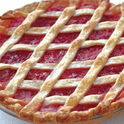 Rhubarb Lattice Pie with Cardamom and Orange recipe