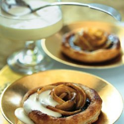 Spiced Sugarplum and Caramelized Apple Tartlets with Calvados Cream recipe