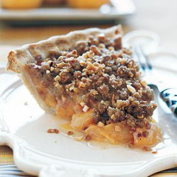 Apricot Pie with Candied Ginger and Crunchy Topping recipe
