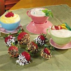 Strawberries with Mint Yogurt Dip recipe