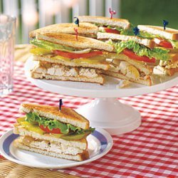 Chicken Salad Club Sandwiches recipe