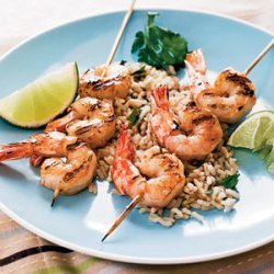 Tequila-Lime Shrimp With Cilantro Rice recipe