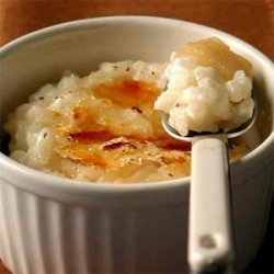 Caramelized Rice Pudding with Pears and Raisins recipe