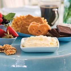 Sweet Dip With Cookies and Fruit recipe