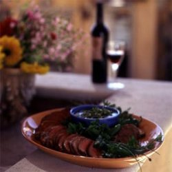 Grilled Beef Tenderloin with Pebre Sauce recipe