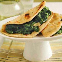 Piadini with Garlic Greens recipe