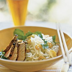 Curried Pork over Rice Noodles with Lime and Coconut recipe
