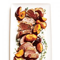 Roast Pork Tenderloin with Thyme-Scented Plums recipe