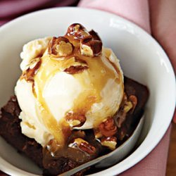 Chocolate Turtle Brownie Sundaes recipe
