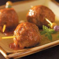 Appetizer Meatballs (pork sausage and ground beef) recipe