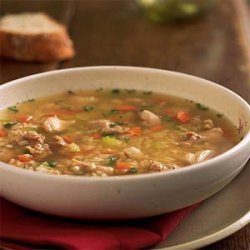 Chicken, Sausage, and Rice Soup recipe