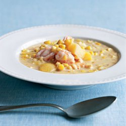 Coconut, Shrimp, and Corn Chowder recipe