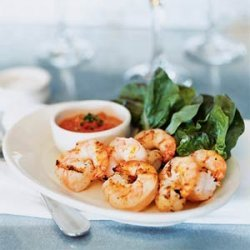 Grilled Shrimp with Romesco Sauce recipe