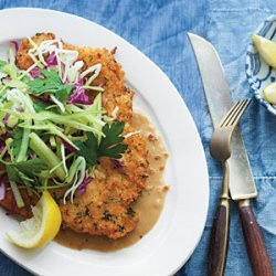 Fried Pork Chops with Caramelized Onion Gravy recipe