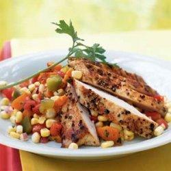 Corn and Roasted Pepper Salad recipe